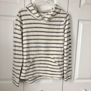 Old Navy White/cream and Navy Hoodie, Small